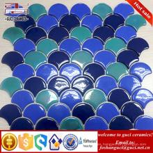 proveedor chino de cuerpo completo diseño del sector mosaico de cristal de azulejos de cristal pared de la pared posterior