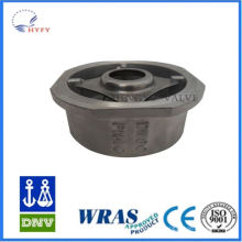 China new product cast steel dual plate wafer check valve