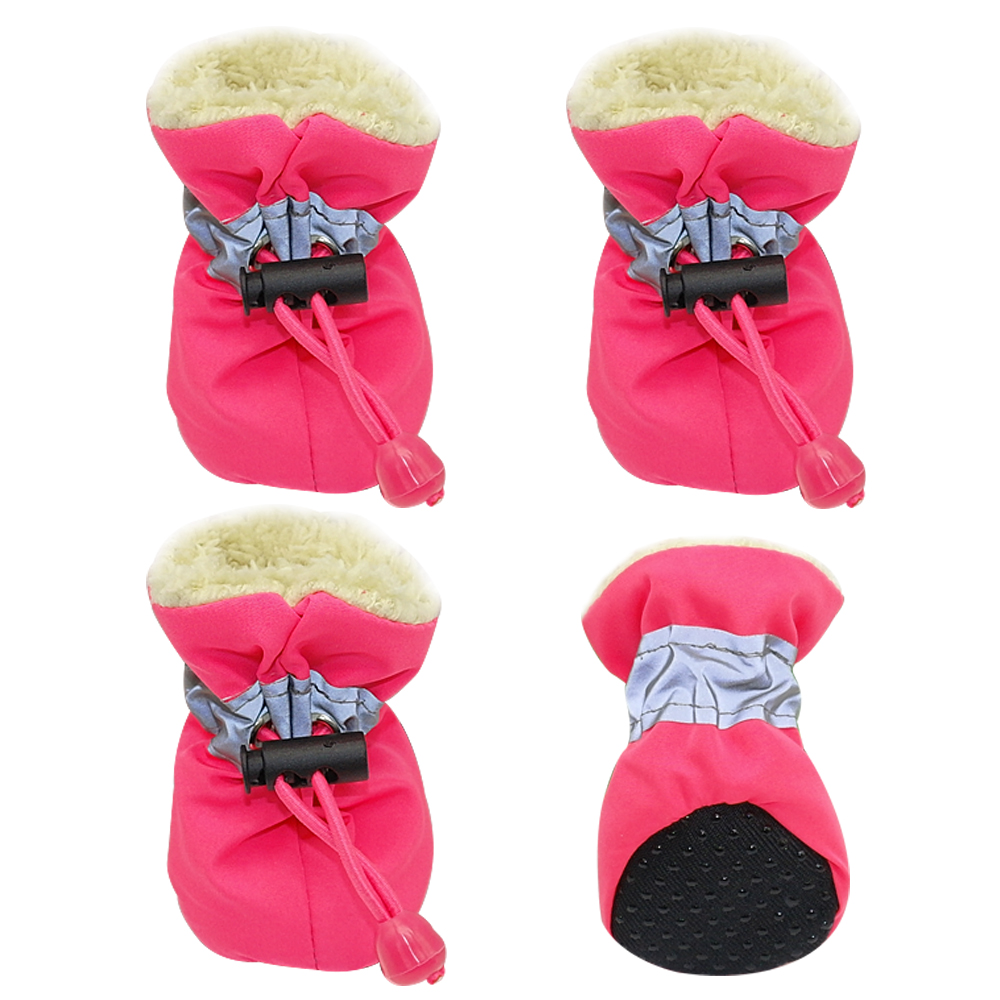 4pcs-Waterproof-Winter-Pet-Dog-Shoes-Anti-slip-Rain-Snow-Boots-Footwear-Thick-Warm-For-Small