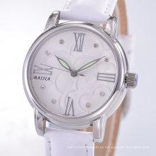 Горячие наручные часы кварцевого кварца с движением Японии для женщин