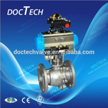 3-PC Flange Ball Valve With Pneumatic Actuator and Solenoid valve ,Limit Switch