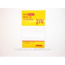 Tablero de escritura del imán del refrigerador del papel plano de encargo barato de calidad superior para la ama de casa elegante