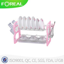 Big Size 2-Tiers Metal Wire Dish Drainer