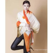 100%Hand Paint Merino Wool Scarf