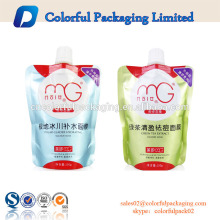Custom plastic stand up spout pouch for foil sachet facial mask packaging