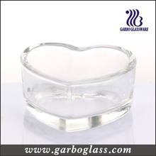 Clear Glass Heart Shape Candle Holder