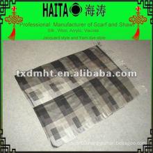 Grid lines silk shawl/scarf