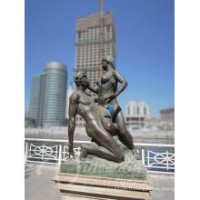 maison decration métal nu homme et femme personnalisé sculpture érotique en bronze