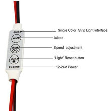 12V 12A mini amplificador LED en línea con luz individual para luces LED de una sola luz