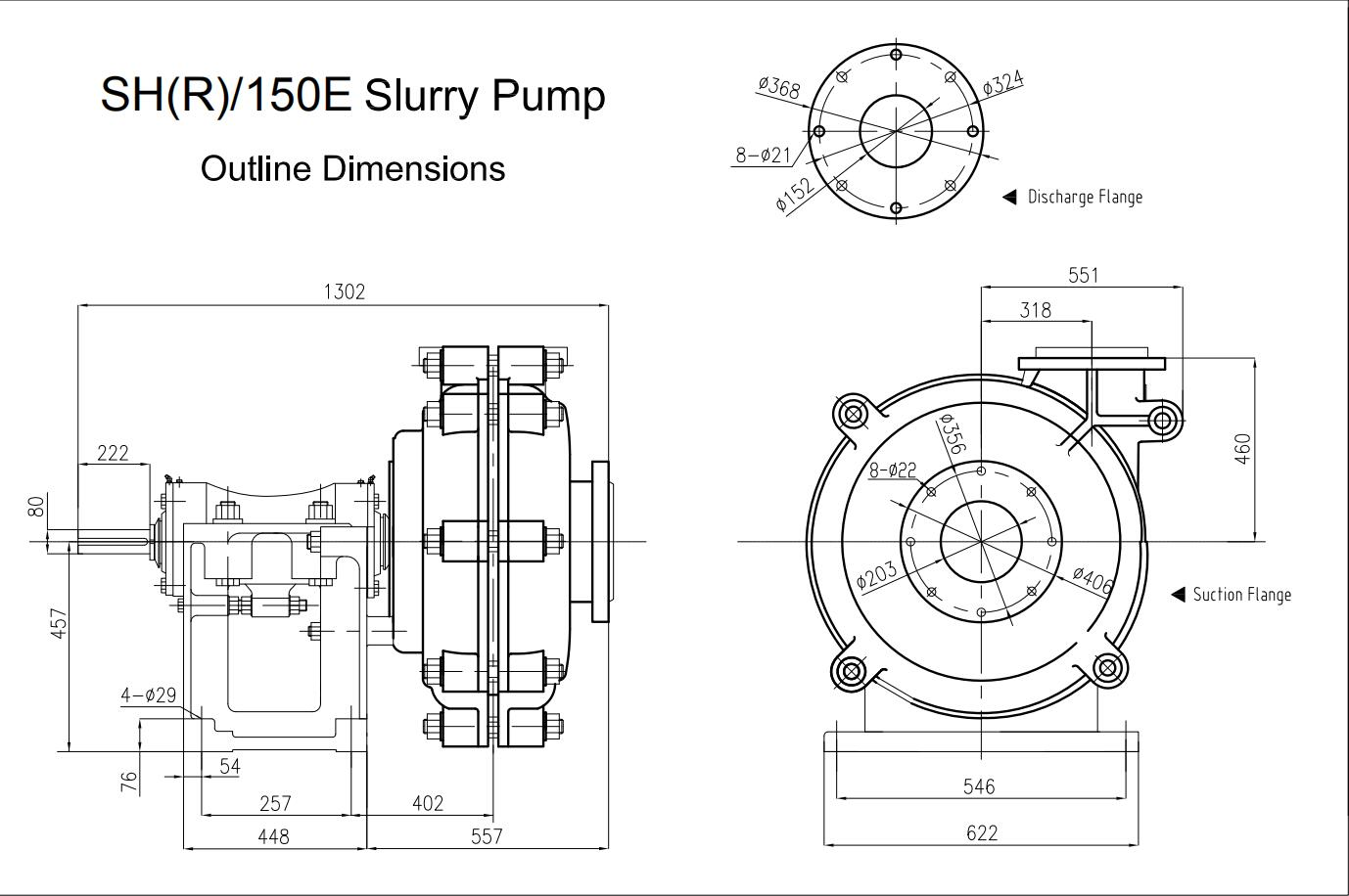 Warman Pump Dimension