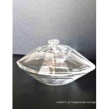 Frascos de perfume para mulheres com forma de diamante requintado e material transparente de alta qualidade