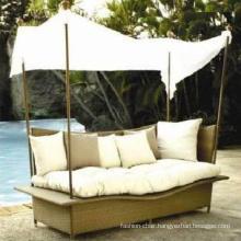Outdoor Pool Rattan Furniture Aluminum Canopy Aluminum Beach Shade