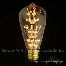 Bulbo do diodo emissor de luz da decoração St64, bulbo do diodo emissor de luz da antiguidade de 3W E26 / E27