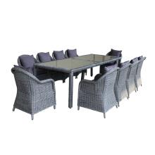 Alta calidad mimbre al aire libre muebles de comedor