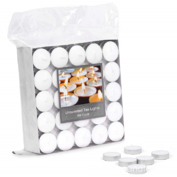 2 jam putih lilin tealight Jerman lilin teh