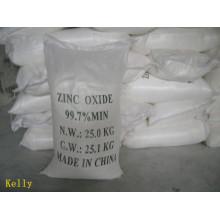 Uso de goma y pintura ZnO óxido de zinc