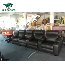 High Quality Genuine Leather Sofa Recliner Movie Theater with Recliners, Reclining Movie Seats