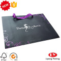 Black Custom Paper Shopping Bag with Handle
