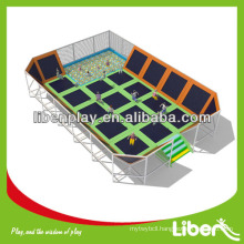 Large Commercial Trampolines with foam pit and enclsure for rent New Product for Kids Play Center LE.BC.057                                                     Quality Assured