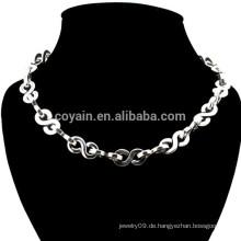 Metall Silber überzog Mode-Dollar-Kette Halskette