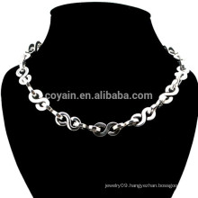 Metal Silver Plated Fashion Dollar Chain Necklace