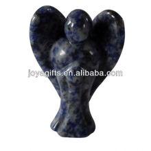"""Aiguille sculptée à la main 2 """"Gemstone Angel ange sculpté en bois"""