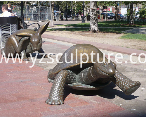 Bronze Turtle Sculpture
