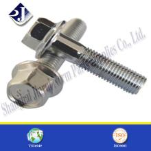 ISO9001 Zertifikat Produkt Edelstahl Hex Flansch Schraube