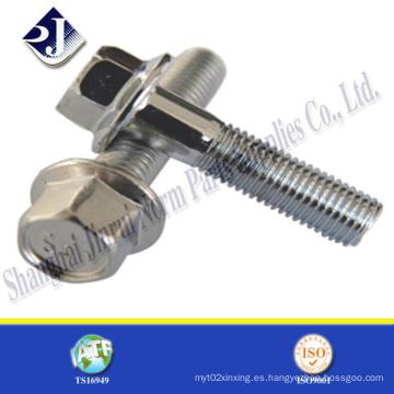 Perno de brida hexagonal del producto de acero inoxidable