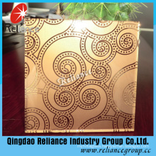 Bronze Frosted Glass/Bronze Acid Etched Glass