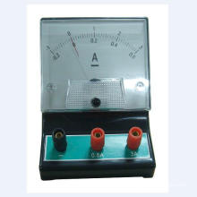 Amperímetro educacional do equipamento do laboratório, voltímetro, galvanômetro