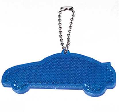 Reflective Safety Car Shape Keychain