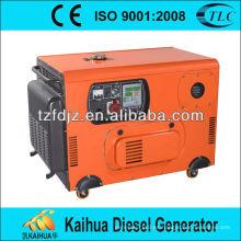 generador diesel silencioso refrigerado por aire portátil para el hogar
