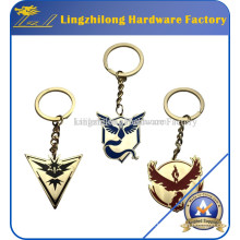 Pokemon Go Red Blue Yellow Team Enamel Key Ring