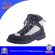 Черный кожаный болотных обувь Водонепроницаемый для рыбалки (66254)