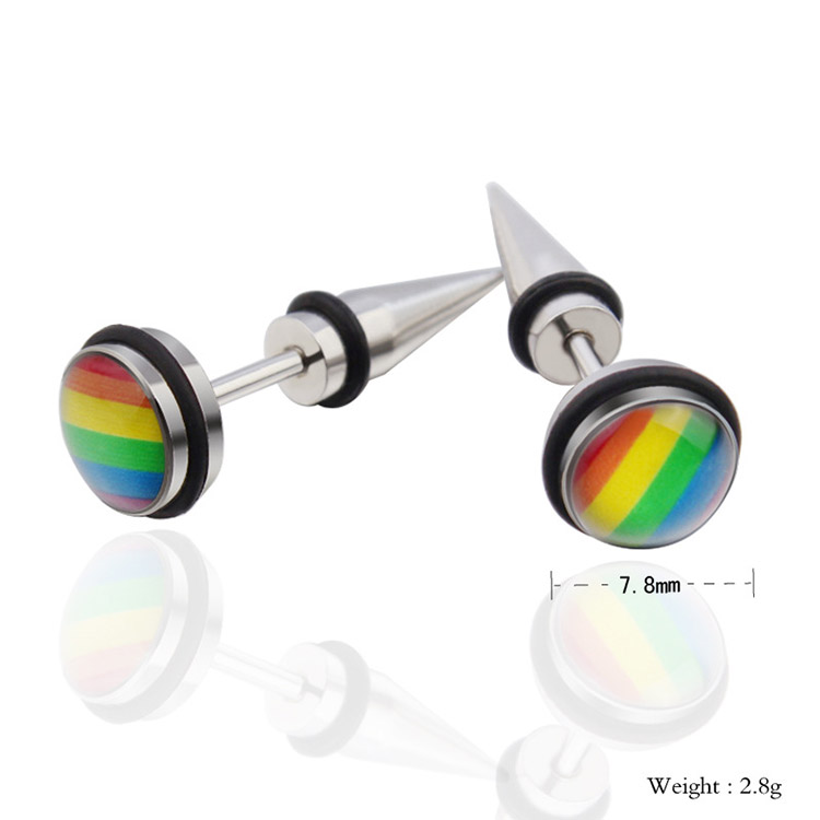 gay pride earrings