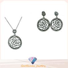 Atacado prata moda jóias mulheres conjunto prata 925 (s3283)
