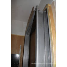 Moldura de porta de metal Moldura de porta de alumínio