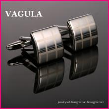 VAGULA High Quality Laser Silver Cuff Links (HL10166)
