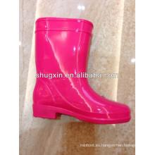Linda moda niños botas de lluvia de pvc