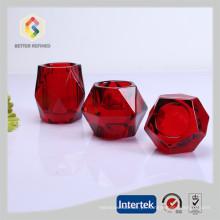 Suporte de vela luz de chá diamante colorido