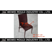 Armless Plastic Rattan Chair Mould