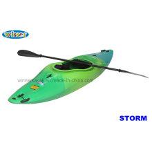 Único sentarse en agua blanca Padding Kayak