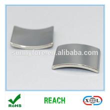 Arc segment sintered magnet