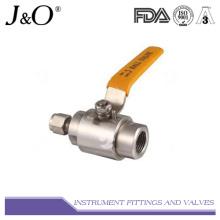 Vanne à bille à instruments en acier inoxydable à gaz