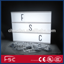 Free combination led light box with letters