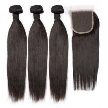 БЕСПЛАТНАЯ ДОСТАВКА прямо девственные волосы необработанные Выровнянная Надкожица волос