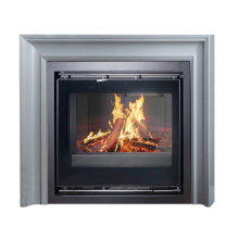 Hot sale Modern wooden stove Real Fire Stainless Steel Fireplace Mantel