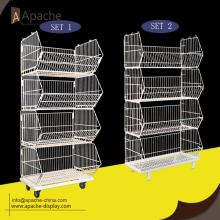 Supermarkt Metalen Display Stand Wire Shelving