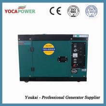 7kVA refrigerado por aire insonorizado motor diesel generador eléctrico